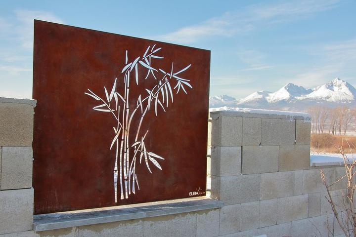 Cortenové plotové diely Guba design