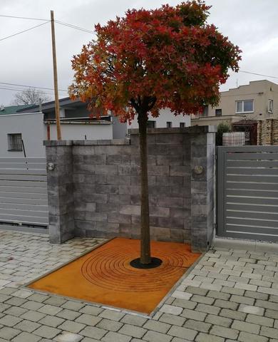 Cortenový rošt pod strom Guba design